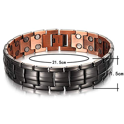 High Gauss Magnetic Copper Bracelet for Men , OCB-1537GUN