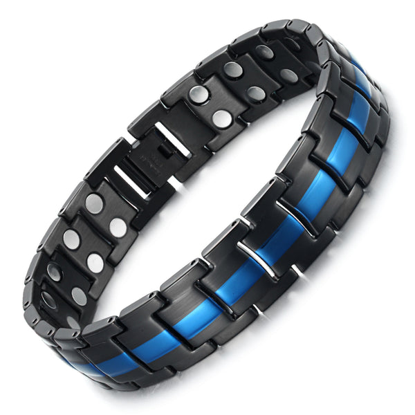 Mens High Gauss Magnetic Bracelets for Arthritis Pain Relief Bracelet