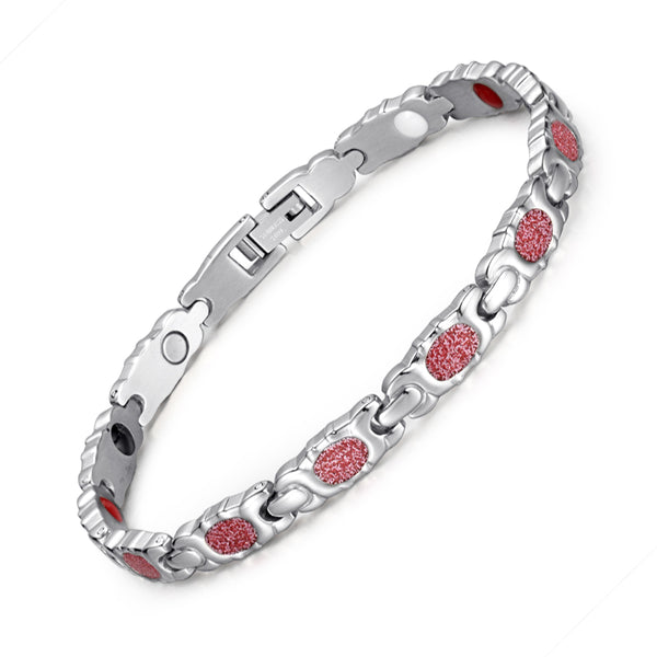 Valentine's Day Gifts - Stainless Steel Magnetic Bracelets  , JEW01617-PK