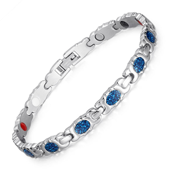 Valentine's Day Gifts - Stainless Steel Magnetic Bracelets  , JEW01617-BL