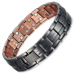 Mens Most Effective Magnetic Copper Bracelets , OCB-1537GUN-MATT