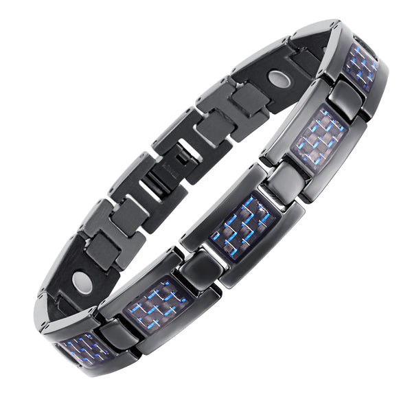 Titanium Carbon Fiber Blood Circulation Magnetic Arthritis Bracelet
