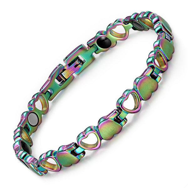 Stainless Steel Powerful Women Bracelet , Mix Color , OSB-082CRFIR