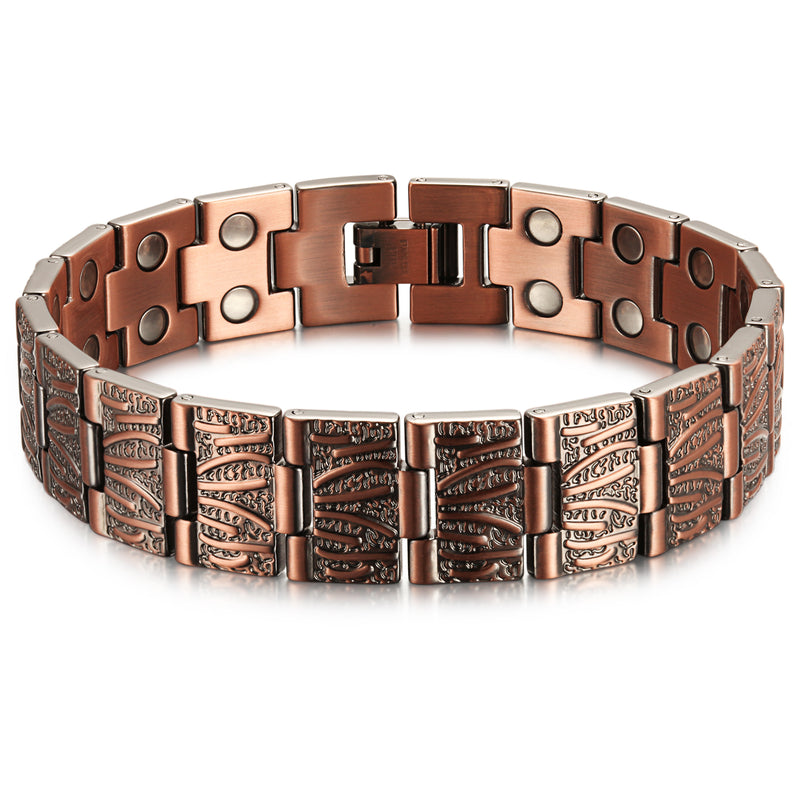 Copper Ultra Strength Magnetic Therapy Bracelet , OCB-065