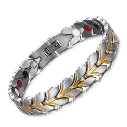 Pain and Inflammation Weight Loss Women Magnetic Bracelet Relieve Stainless Steel