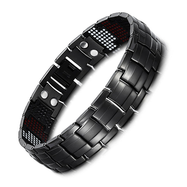 Promotional Mens Magnetic Bracelet For Pain Relief Titanium 4 in 1 Balance Bracelet