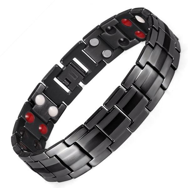 Titanium Mens Magnetic Therapeutic Bracelets Benefit for Wrist Pain