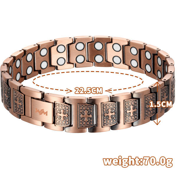 Pure Copper Magnetic Therapy Bracelet for Pain