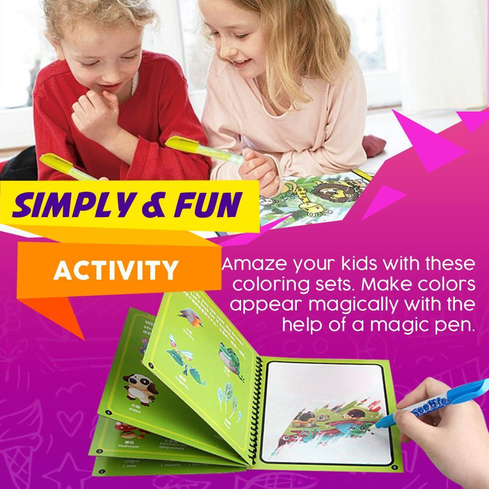 Montessori Coloring Book & Magic Pen