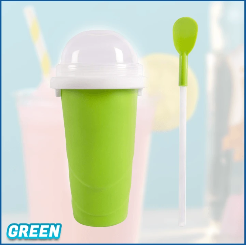 FrostCup - Instant Frozen Slushy Maker Cup Frozen Ice Cream - Green - Ice Cream Makers