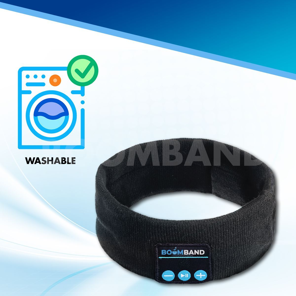 BOOMBAND™ - WIRELESS HEADPHONES [COMFORT SPEAKERS + HD AUDIO] 63705 BoomBand