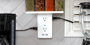Socket Shelf- 8 Port Surge Protector
