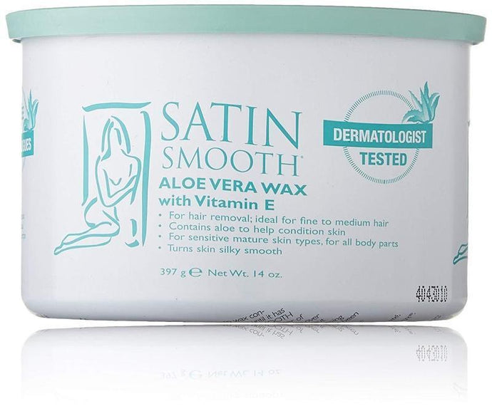 Satin Smooth Aloe Vera Strip Wax with Vitamin E 397g - Professional Salon Brands