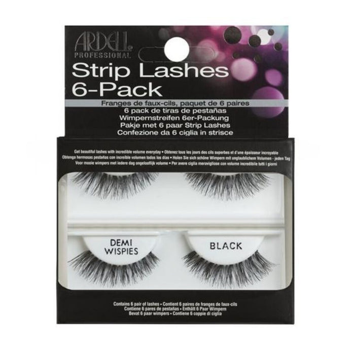 Ardell Lashes Invisibands Natural Demi Wispies Black 6pk - Professional Salon Brands