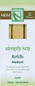 Clean and Easy Simply Soy Refills Medium 3pk - Professional Salon Brands