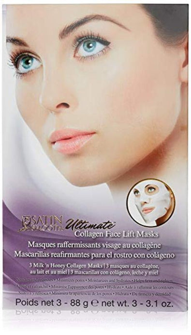 Satin Smooth Ultimate Face Lift Collagen Mask 3 pack - Professional Salon Brands