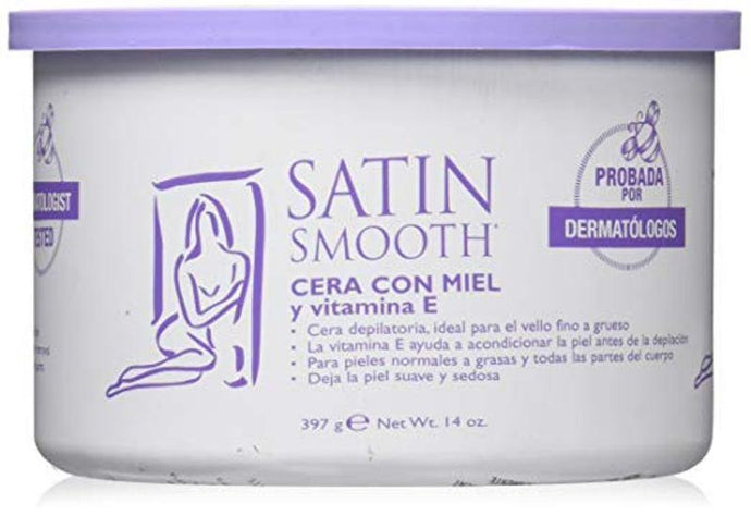 Satin Smooth Honey Strip Wax with Vitamin E 397g - Professional Salon Brands