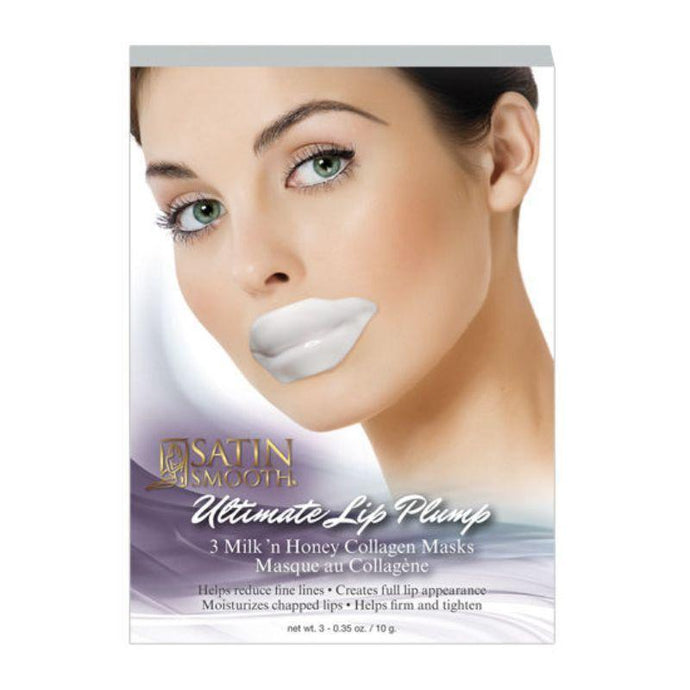 Satin Smooth Ultimate Lip Plum Collagen Mask 3 pack - Professional Salon Brands