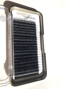 Gravity Lashes Lash C Curl 0.03 Volume II - NEW 20 Line Mixed Tray - Professional Salon Brands