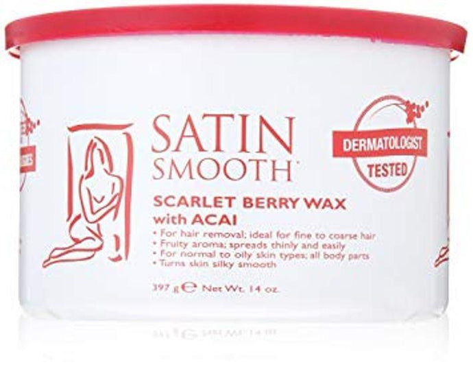 Satin Smooth Scarlett Berry Strip Wax with Acai 397g - Professional Salon Brands