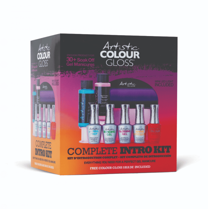 Artistic Nail Colour Gloss Complete Intro Kit - Professional Salon Brands