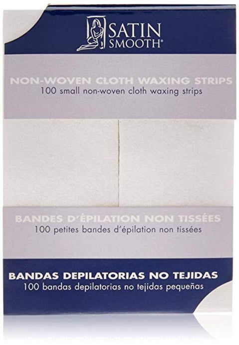 Satin Smooth Small Non-Woven Cloth Waxing Strips 100	pack - Professional Salon Brands