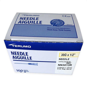 "TERUMO NEEDLE 100PK 30G X 1/2"" - Professional Salon Brands"