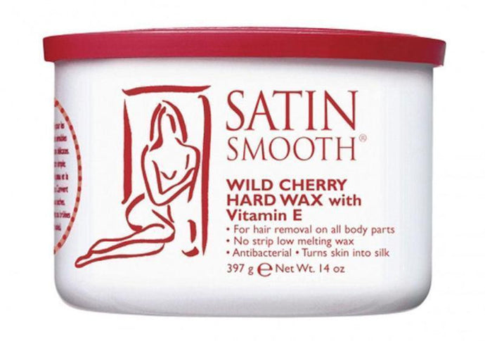 Satin Smooth Wild Cherry Hard Wax with Vitamin E 397g - Professional Salon Brands