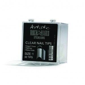 Artistic Rock Hard Xtentions Clear Nail Tips 50ct Size 1 - Professional Salon Brands