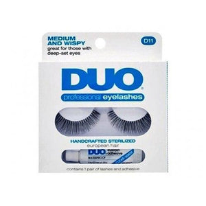 DUO Medium and Wispy Eyelashes D11 - WITHOUT GLUE - Professional Salon Brands