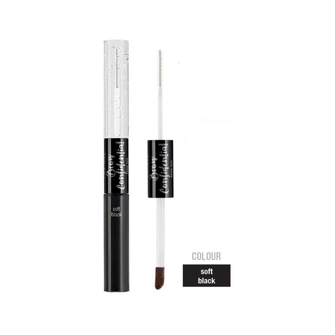 Ardell Beauty Brow Confidential Duo - Soft Black + FREE Matching Stroke A Brow - Professional Salon Brands