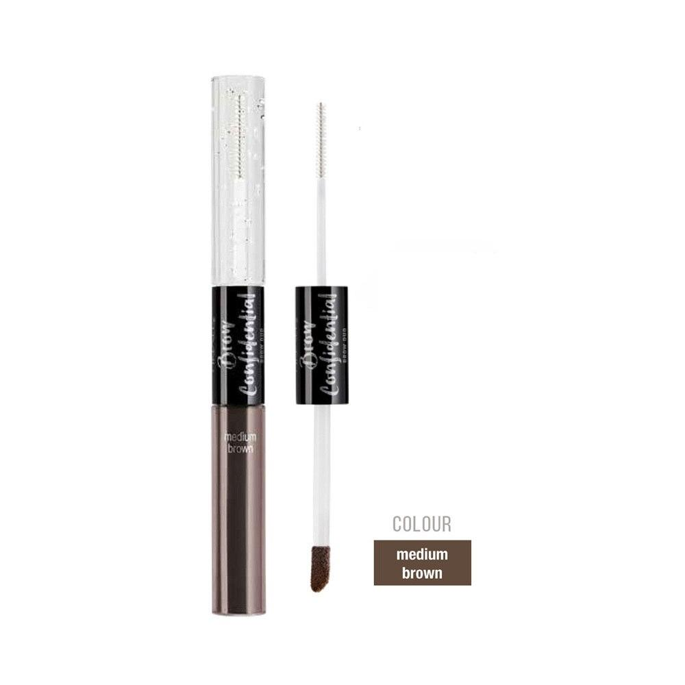Ardell Beauty Brow Confidential Duo - Medium Brown + FREE Matching Stroke A Brow - Professional Salon Brands