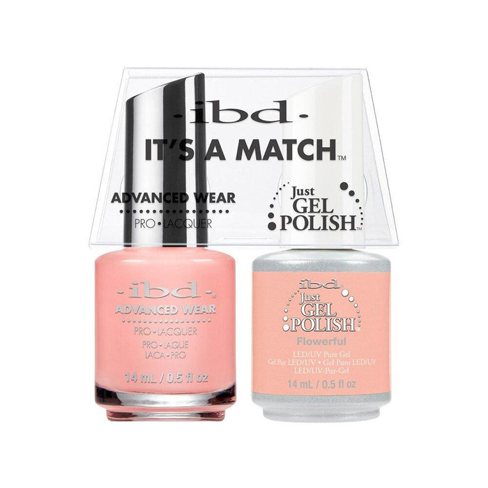 ibd Gel Polish & Lacquer Duo - Flowerful - Professional Salon Brands
