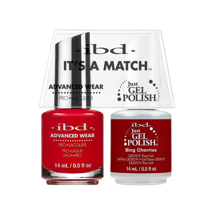 ibd Gel Polish & Lacquer Duo - Bing Cherries - Professional Salon Brands