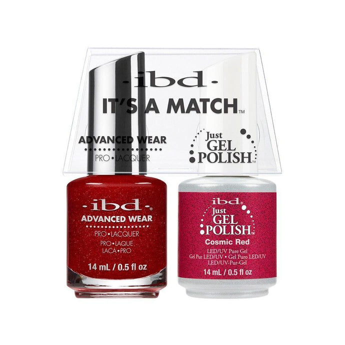 ibd Gel Polish & Lacquer Duo - Cosmic Red - Professional Salon Brands