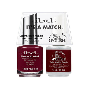 ibd Gel Polish & Lacquer Duo - Truly, Madly, Deeply - Professional Salon Brands