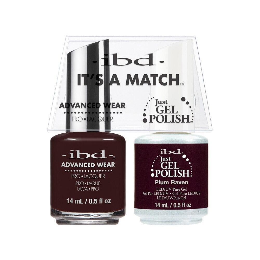 ibd Gel Polish & Lacquer Duo - Plum Raven - Professional Salon Brands