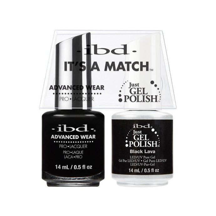ibd Gel Polish & Lacquer Duo - Black Lava - Professional Salon Brands