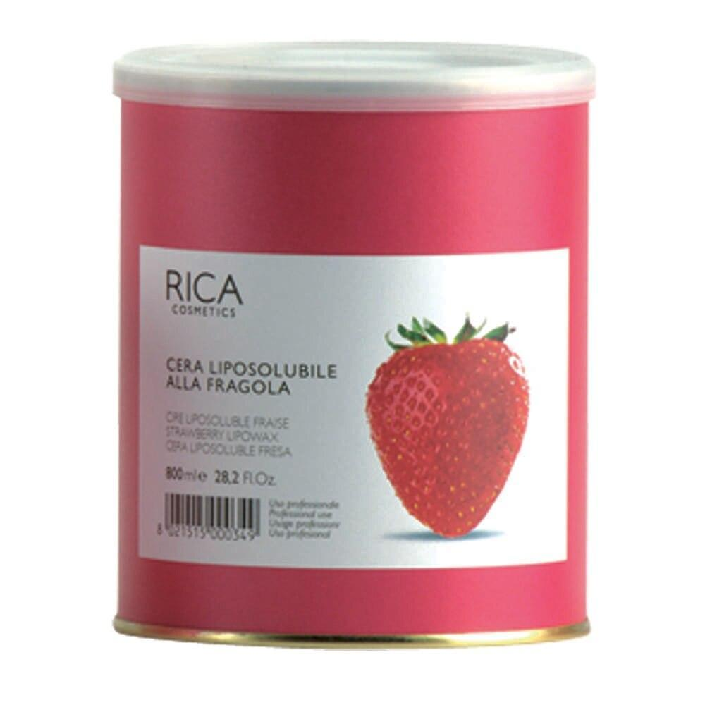 Rica Liposoluble Wax For Dry Skin 800ml - Strawberry - Professional Salon Brands
