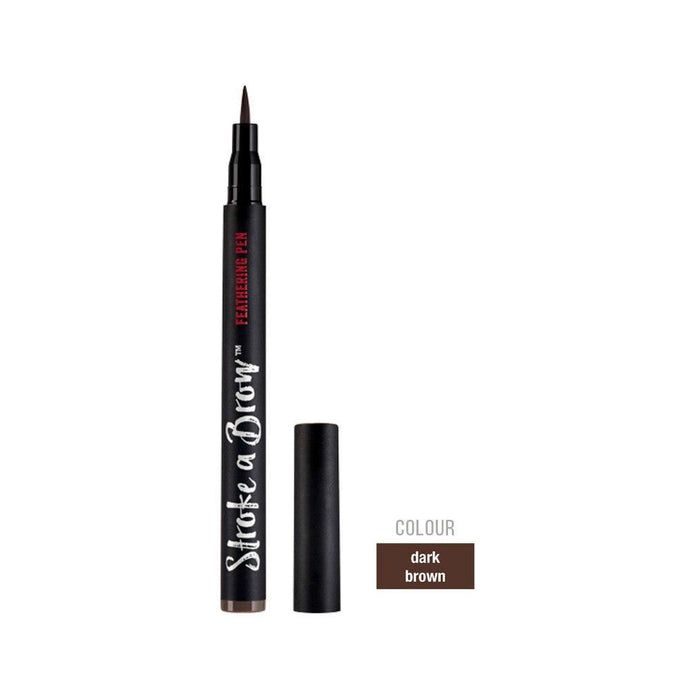 Ardell Beauty Stroke A Brow Feathering Pen - Dark Brown - Professional Salon Brands