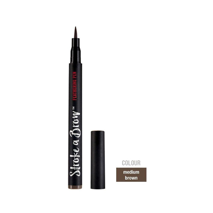 Ardell Beauty Stroke A Brow Feathering Pen - Medium Brown - Professional Salon Brands