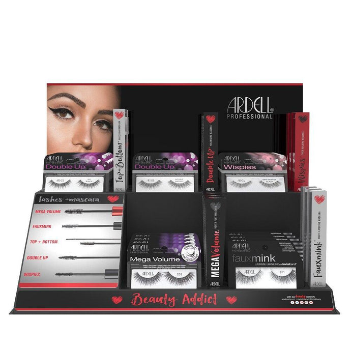 Ardell Beauty Lash and Mascara Beauty Addict 35 Piece Display - Professional Salon Brands