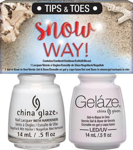 China Glaze Gelaze Gel & Lacquer Duo - Snow Way! - Professional Salon Brands