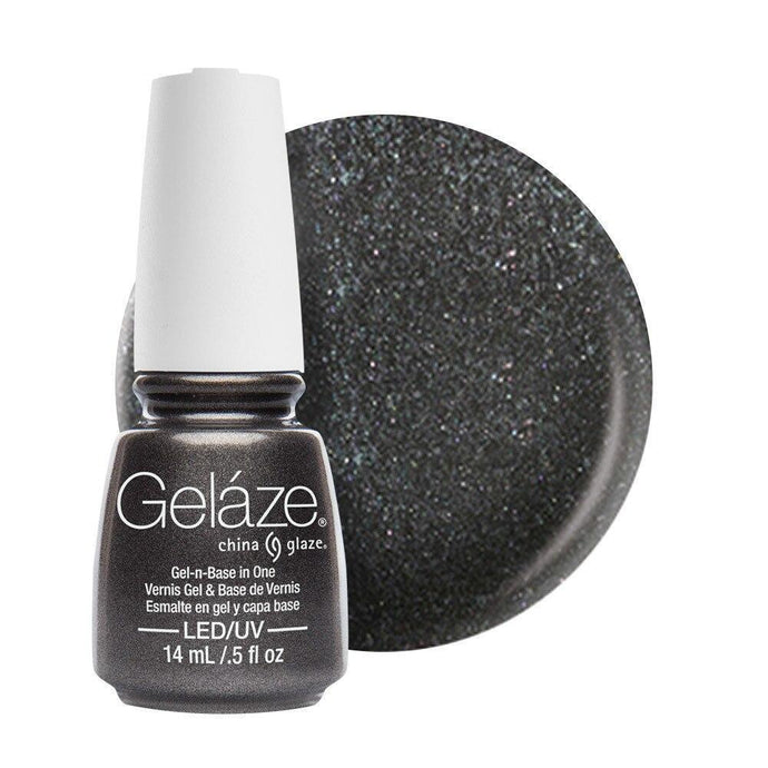 China Glaze Gelaze Gel & Base 14ml - Black Diamond - Professional Salon Brands