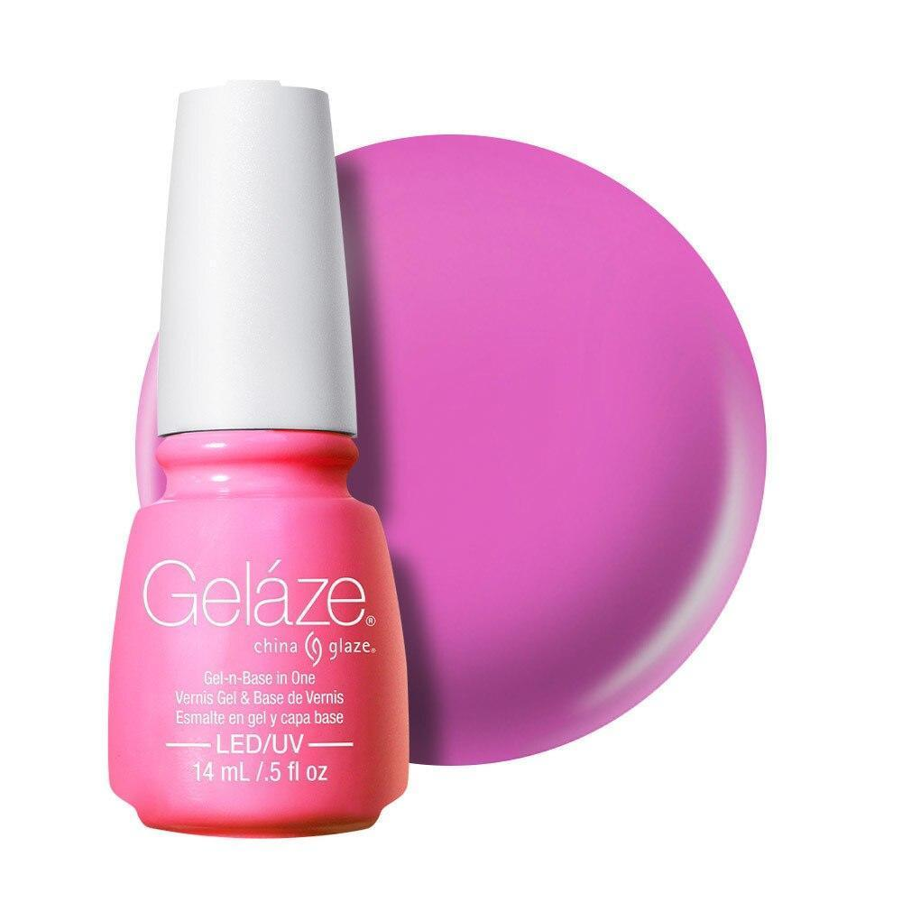 China Glaze Gelaze Gel & Base 14ml - Bottoms Up - Professional Salon Brands