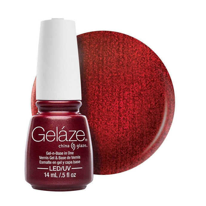 China Glaze Gelaze Gel & Base 14ml - Long Kiss - Professional Salon Brands