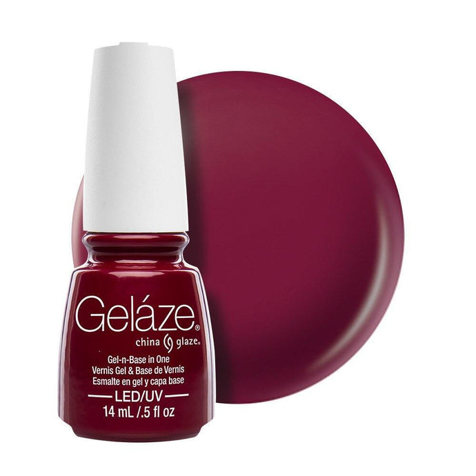 China Glaze Gelaze Gel & Base 14ml - Seduce Me - Professional Salon Brands