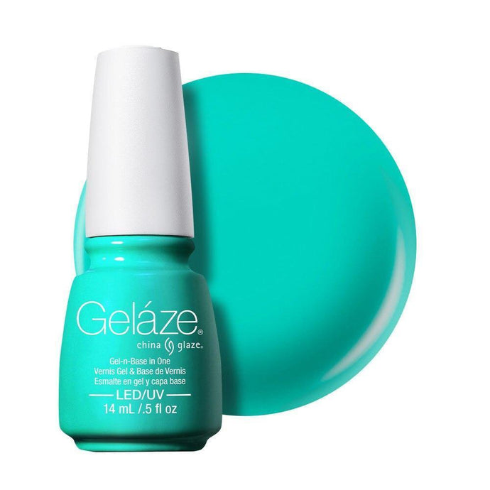 China Glaze Gelaze Gel & Base 14ml - Too Yacht To Handle - Professional Salon Brands