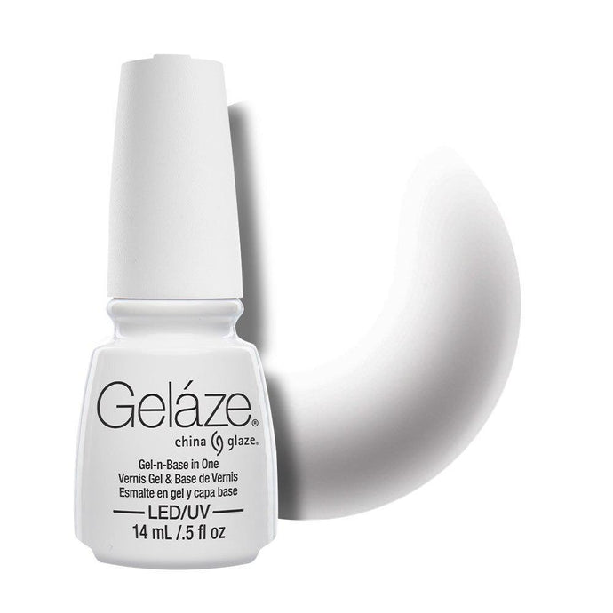 China Glaze Gelaze Gel & Base 14ml - White On White - Professional Salon Brands