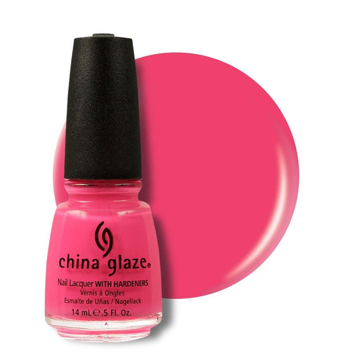 China Glaze Nail Lacquer 14ml - Shocking Pink - Professional Salon Brands